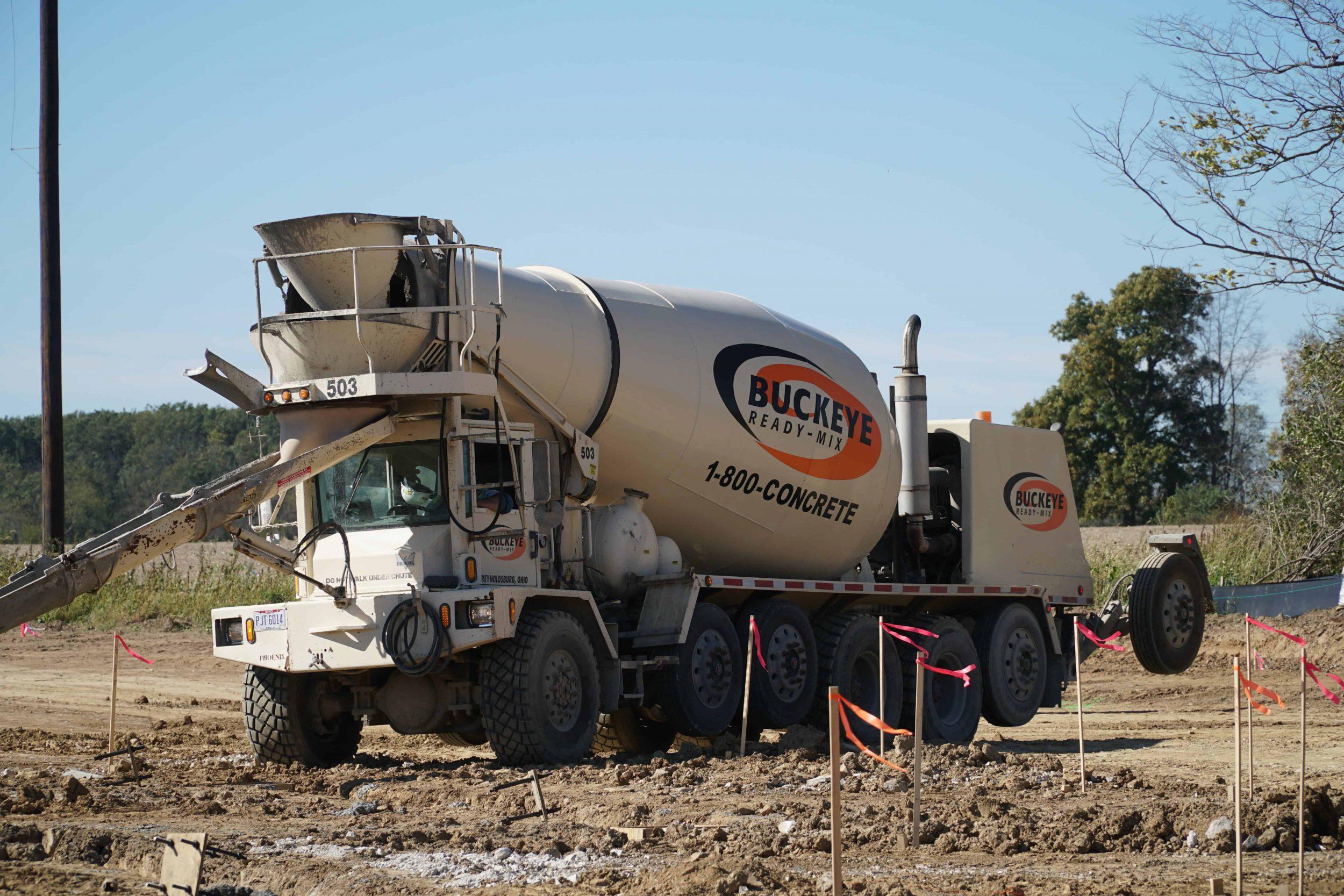 1-800-CONCRETE | BUCKEYE READY MIX ON NEW SCHOOL CONSTRUCTION SITE