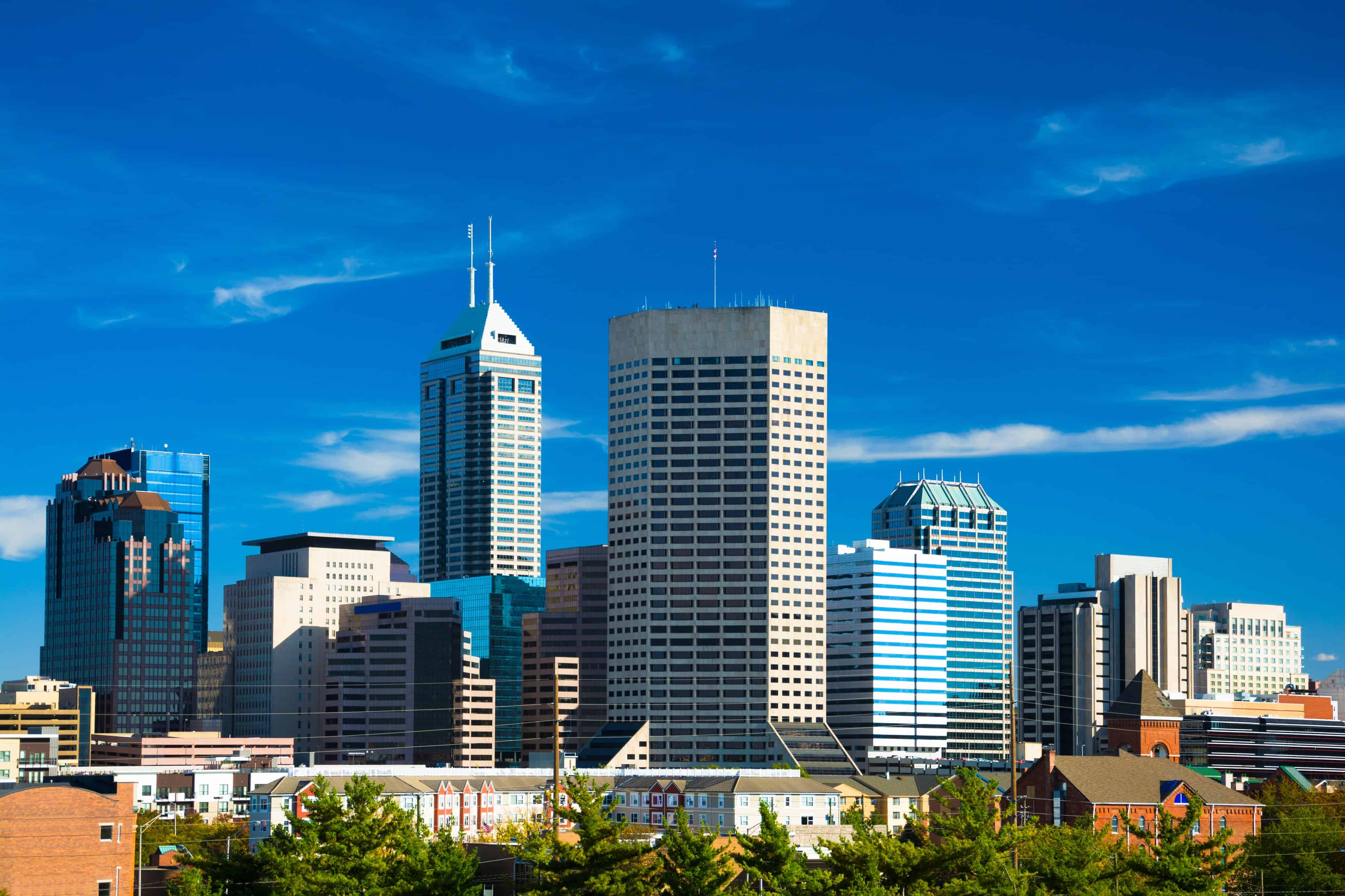 Image of Indianapolis Skyline with text