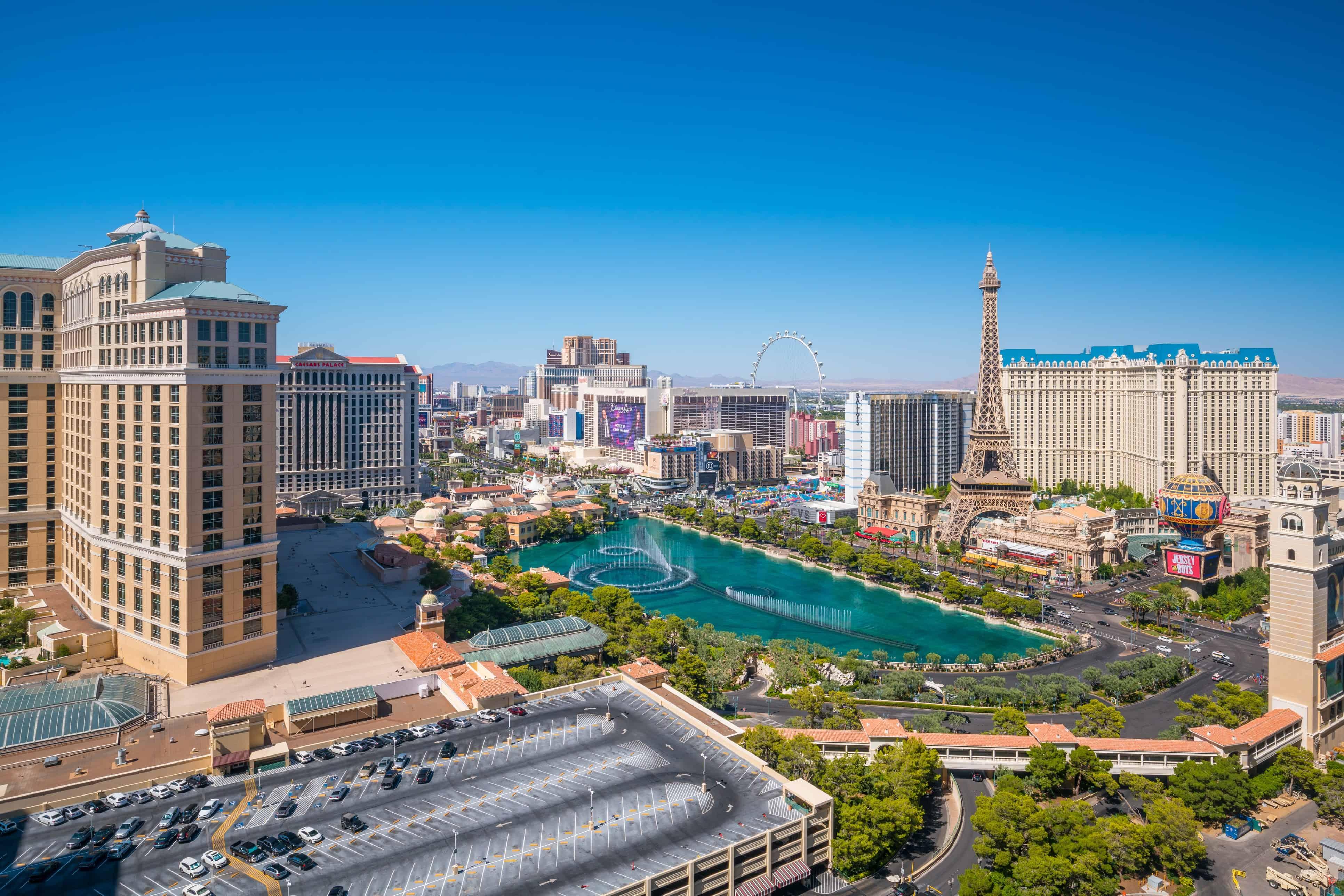 Image of Las Vegas Skyline with text