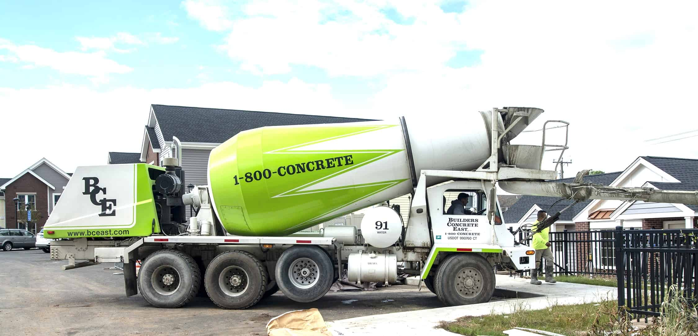Builders Concrete East - 1-800-CONCRETE on Residential Pour in East Hartford,CT